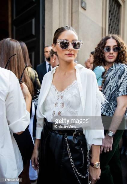 Olivia Palermo attends the Ermanno Scervino show at Milan Fashion Week Spring Summer 2020 on September 21, 2019 in Milan, Italy.