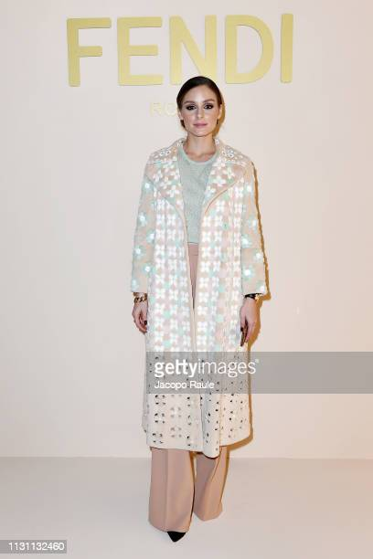 Olivia Palermo attends the Fendi show at Milan Fashion Week Autumn/Winter 2019/20 on February 21 2019 in Milan Italy