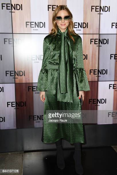 Olivia Palermo attends the Fendi show during Milan Fashion Week Fall/Winter 2017/18 on February 23 2017 in Milan Italy