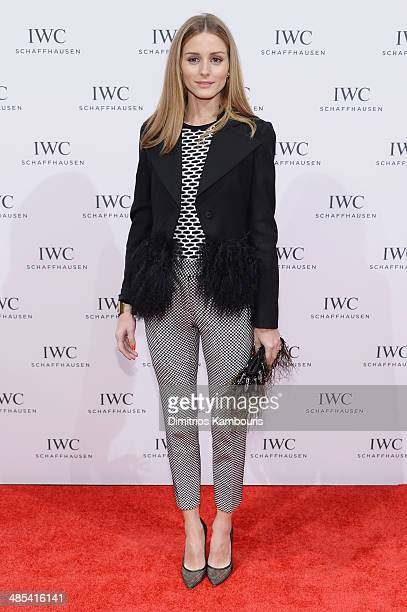 Olivia Palermo attends the For the Love of Cinema dinner hosted by IWC Schaffhausen and Tribeca Film Festival at Urban Zen on April 17 2014 in New...
