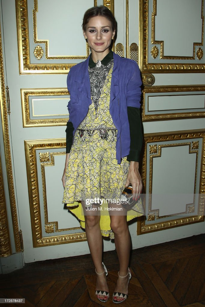 Olivia Palermo attends the Founder And CEO Alessandro Savelli And Contemporary Style Icon Julia Restoin Roitfeld Launch SAVELLI The World's First Luxury Smart Phone Especially For Women During Haute Couture Week at Musee Jacquemart-Andre on July 3, 2013 in Paris, France.