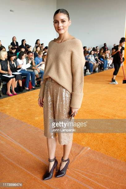 Olivia Palermo attends the front row for Sally LaPointe during New York Fashion Week: The Shows on September 10, 2019 in New York City.