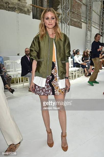 Olivia Palermo attends the Giambattista Valli Haute Couture Fall/Winter 20162017 show as part of Paris Fashion Week on July 4 2016 in Paris France