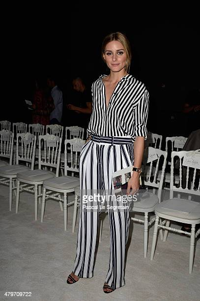 Olivia Palermo attends the Giambattista Valli show as part of Paris Fashion Week Haute Couture Fall/Winter 2015/2016 on July 6 2015 in Paris France