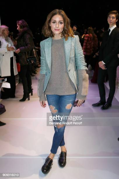 Olivia Palermo attends the Giorgio Armani Prive Haute Couture Spring Summer 2018 show as part of Paris Fashion Week on January 23 2018 in Paris France