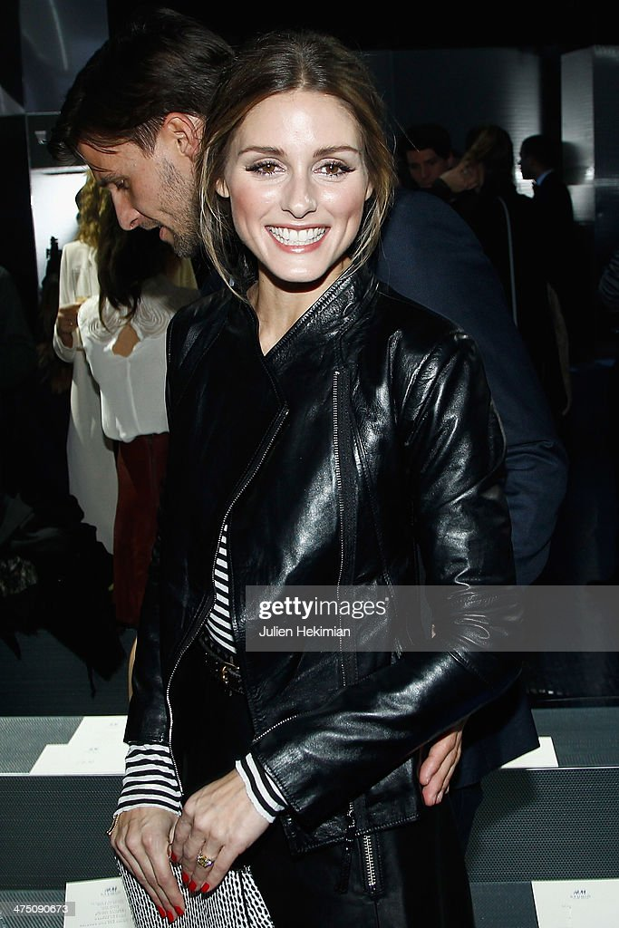Olivia Palermo attends the H&M show as part of the Paris Fashion Week Womenswear Fall/Winter 2014-2015 on February 26, 2014 in Paris, France.