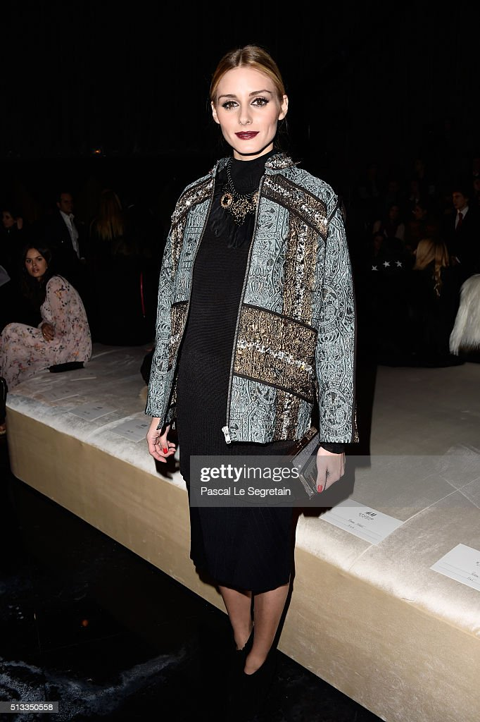 H&M : Front Row  - Paris Fashion Week Womenswear Fall/Winter 2016/2017