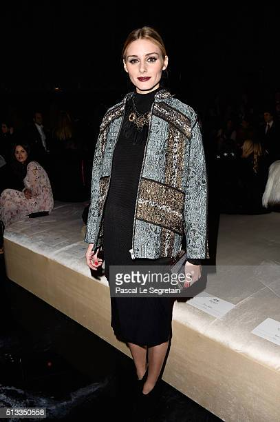 Olivia Palermo attends the HM show as part of the Paris Fashion Week Womenswear Fall/Winter 2016/2017 on March 2 2016 in Paris France