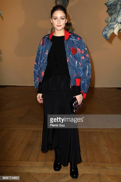 Olivia Palermo attends the Iris Van Herpen Haute Couture Spring Summer 2018 show as part of Paris Fashion Week on January 22, 2018 in Paris, France.