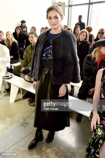 Olivia Palermo attends the Jason Wu front row during New York Fashion Week The Shows at Gallery I at Spring Studios on February 9 2018 in New York...