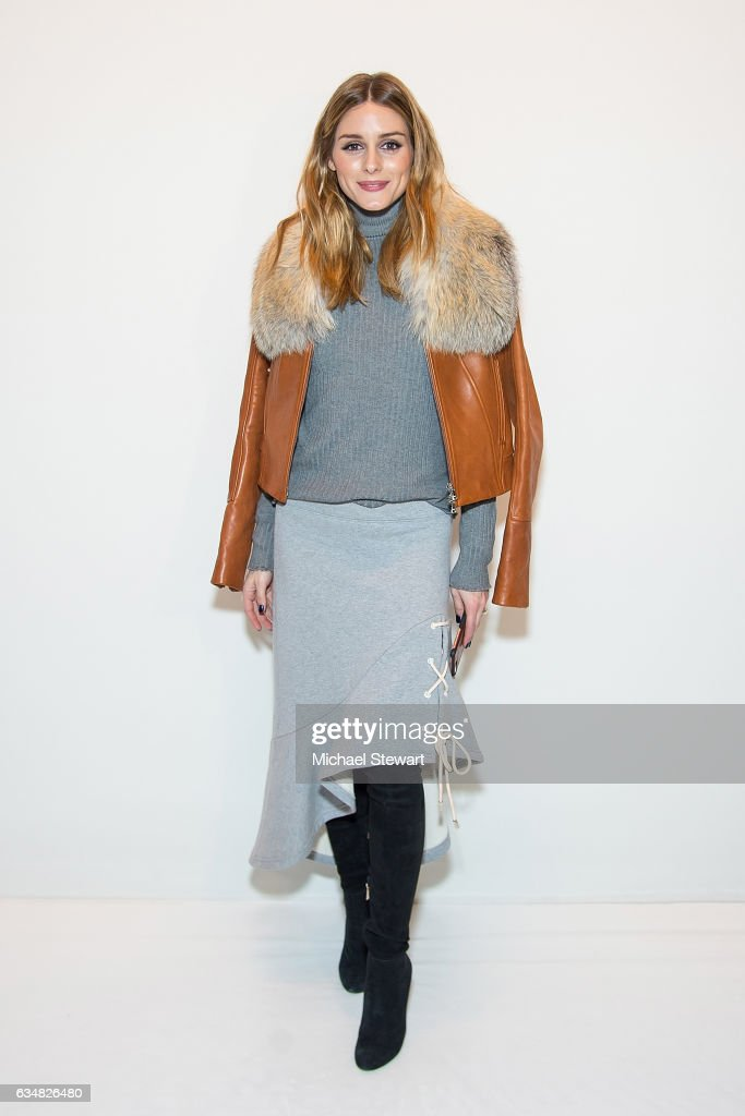 Olivia Palermo attends the Jonathan Simkhai fashion show during February 2017 New York Fashion Week: The Shows at Gallery 1, Skylight Clarkson Sq on February 11, 2017 in New York City.