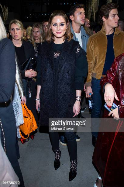 Olivia Palermo attends the Jonathan Simkhai fashion show during New York Fashion Week at Gallery I at Spring Studios on February 10 2018 in New York...