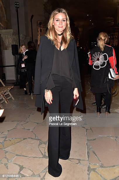 Olivia Palermo attends the Kenzo show as part of the Paris Fashion Week Womenswear Spring/Summer 2017 on October 4 2016 in Paris France