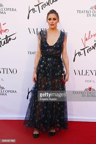 Olivia Palermo attends the 'La Traviata' Premiere at Teatro Dell'Opera on May 22 2016 in Rome Italy