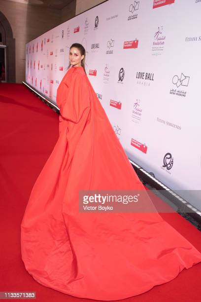 Olivia Palermo attends the Love Ball in aid of the Naked Heart Foundation and Al Shafallah at Museum of Islamic Art on March 29 2019 in Doha Qatar
