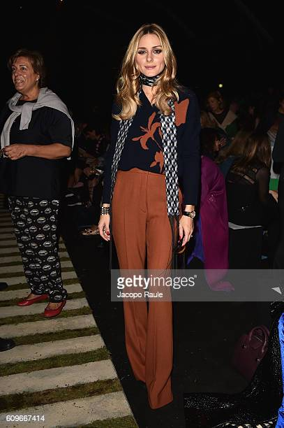 Olivia Palermo attends the Max Mara show during Milan Fashion Week Spring/Summer 2017 on September 22 2016 in Milan Italy