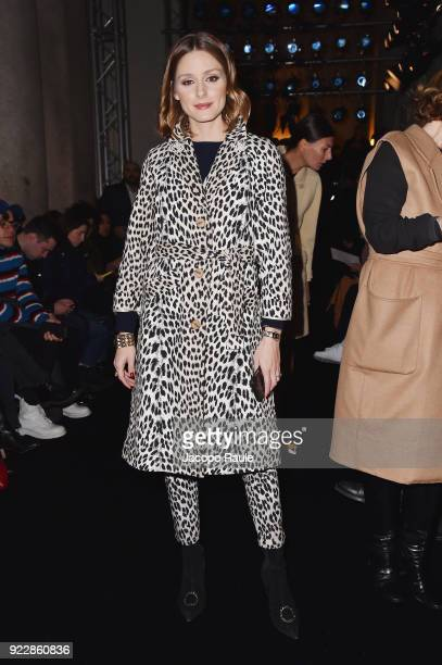 Olivia Palermo attends the Max Mara show during Milan Fashion Week Fall/Winter 2018/19 on February 22 2018 in Milan Italy
