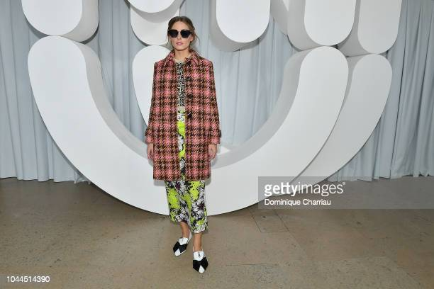 Olivia Palermo attends the Miu Miu show as part of the Paris Fashion Week Womenswear Spring/Summer 2019 on October 2 2018 in Paris France