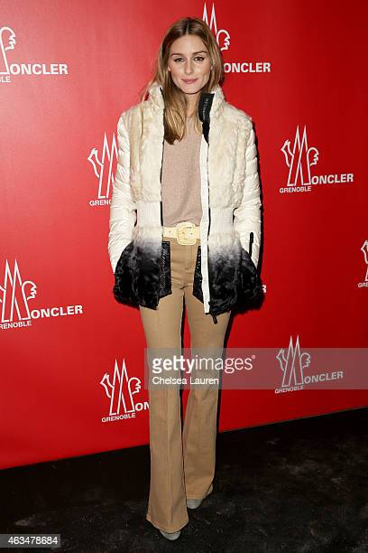 Olivia Palermo attends the Moncler Grenoble Fall/Winter 2015 fashion show during New York Fashion Week Fall 2015 at the Duggal Greenhouse on February...