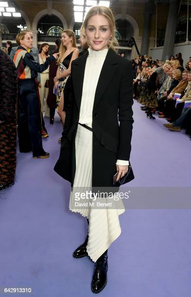Olivia Palermo attends the Mulberry Winter '17 LFW show at The Old Billingsgate on February 19, 2017 in London, England.
