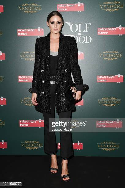Olivia Palermo attends the Naked Heart France Gala Dinner as part of the Paris Fashion Week Womenswear Spring/Summer 2019 at Le Boeuf Sur Le Toit on...