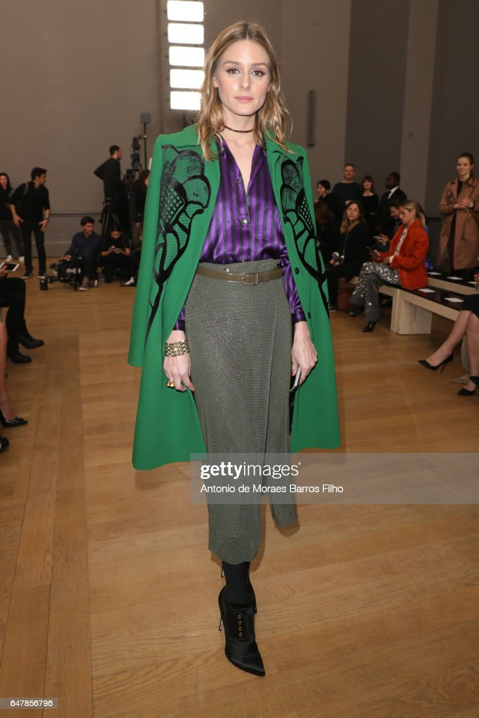 Olivia Palermo attends the Nina Ricci show as part of the Paris Fashion Week Womenswear Fall/Winter 2017/2018 on March 4, 2017 in Paris, France.