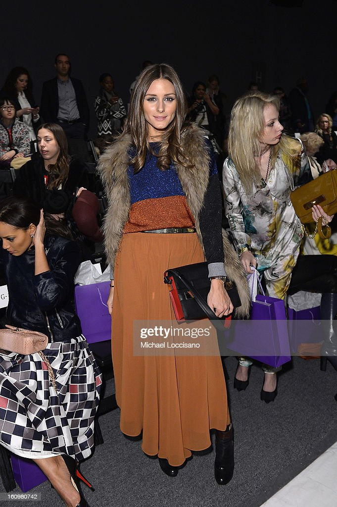 Olivia Palermo attends the Noon By Noor Fall 2013 fashion show during Mercedes-Benz Fashion at The Studio at Lincoln Center on February 8, 2013 in New York City.