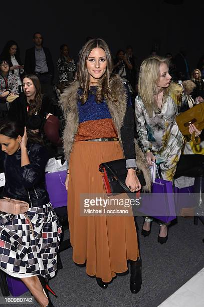 Olivia Palermo attends the Noon By Noor Fall 2013 fashion show during MercedesBenz Fashion at The Studio at Lincoln Center on February 8 2013 in New...