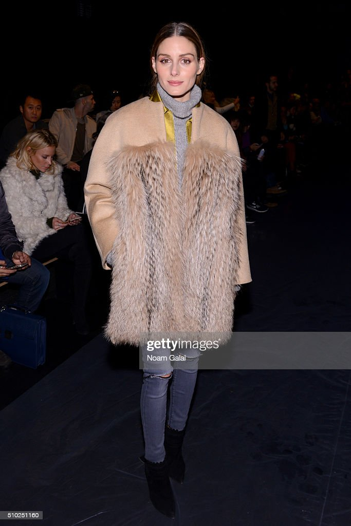 Olivia Palermo attends the Noon By Noor Fall 2016 fashion show during New York Fashion Week: The Shows at The Dock, Skylight at Moynihan Station on February 14, 2016 in New York City.