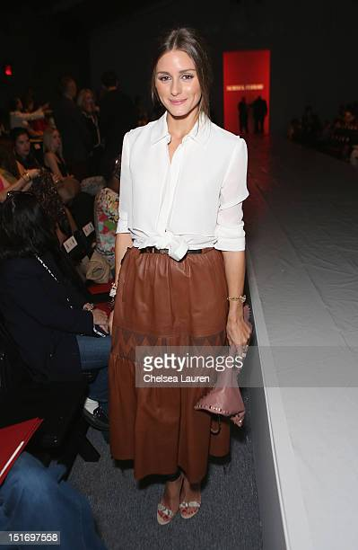 Olivia Palermo attends the Norisol Ferrari Spring 2013 fashion show during MercedesBenz Fashion Week at The Studio at Lincoln Center on September 10...