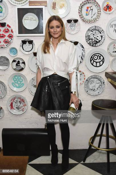 Olivia Palermo attends the Oliver Peoples Pour Berluti Launch Celebration at Sant Ambroeus SoHo on March 28 2017 in New York City