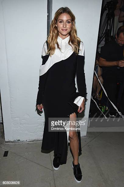 Olivia Palermo attends the Prabal Gurung fashion show during New York Fashion Week The Shows September 2016 at The Gallery Skylight at Clarkson Sq on...