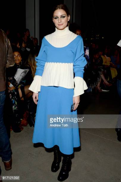 Olivia Palermo attends the Prabal Gurung front row during New York Fashion Week The Shows at Gallery I at Spring Studios on February 11 2018 in New...