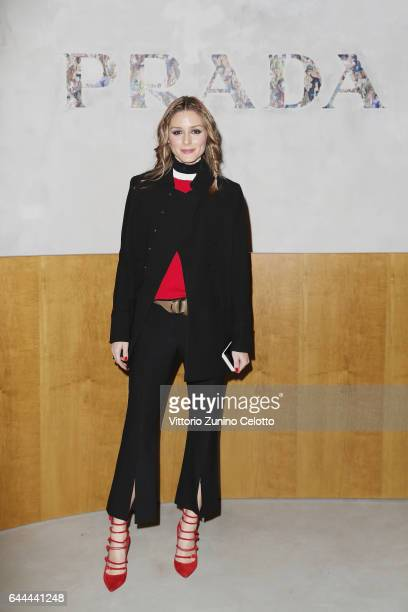 Olivia Palermo attends the Prada show during Milan Fashion Week Fall/Winter 2017/18 on February 23, 2017 in Milan, Italy.