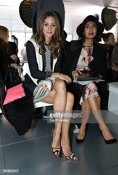 Olivia Palermo attends the Preen By Thornton Bregazzi show during London Fashion Week Fall/Winter 2013/14 at Heron Tower on February 17 2013 in...