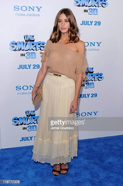 Olivia Palermo attends the premiere of 'The Smurfs' at the Ziegfeld Theater on July 24 2011 in New York City