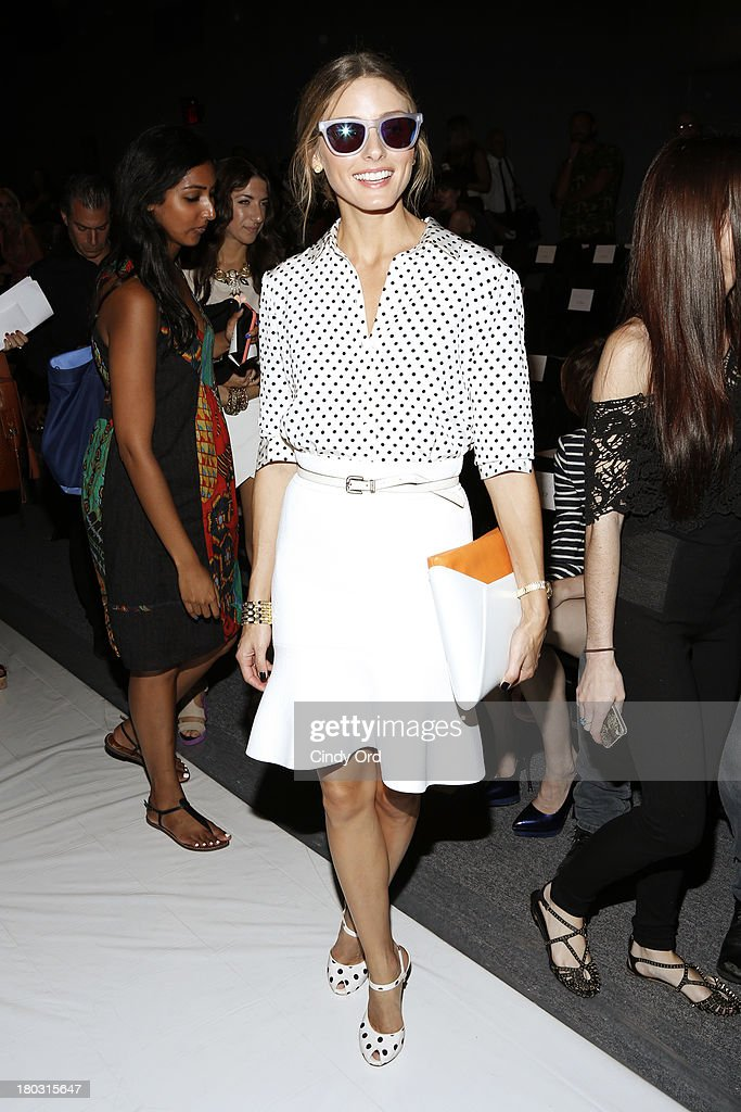 Olivia Palermo attends the Rachel Zoe fashion show during Mercedes-Benz Fashion Week Spring 2014 at The Studio at Lincoln Center on September 11, 2013 in New York City.
