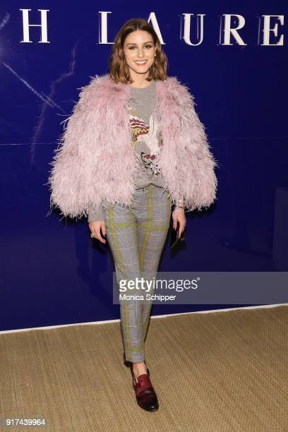 Olivia Palermo attends the Ralph Lauren fashion show during New York Fashion Week The Shows on February 12 2018 in New York City