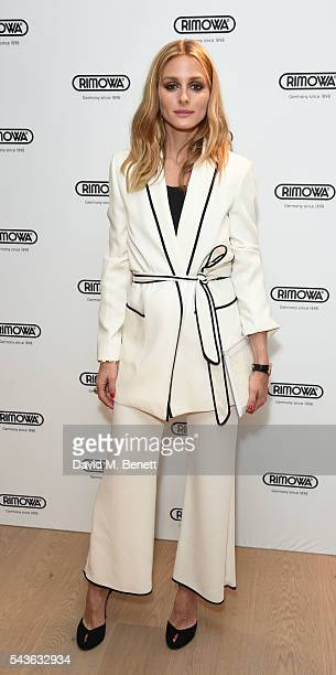 Olivia Palermo attends the RIMOWA London concept store VIP launch party on June 29 2016 in London England