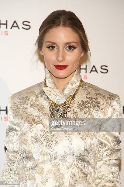 Olivia Palermo attends the Rochas event at the French embassy on April 24 2013 in Madrid Spain