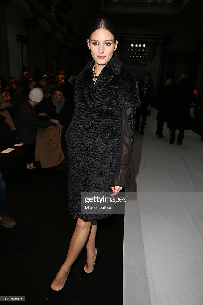 Olivia Palermo attends the Rochas Fall/Winter 2013 Ready-to-Wear show as part of Paris Fashion Week on February 27, 2013 in Paris, France.