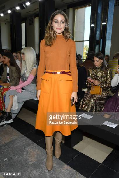 Olivia Palermo attends the Rochas show as part of the Paris Fashion Week Womenswear Spring/Summer 2019 on September 26, 2018 in Paris, France.