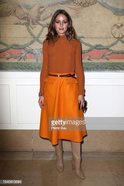 Olivia Palermo attends the Rochas show as part of the Paris Fashion Week Womenswear Spring/Summer 2019 on September 26 2018 in Paris France