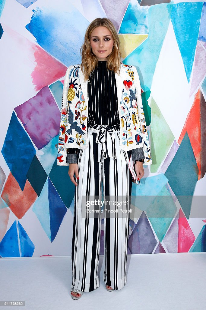 Olivia Palermo attends the Schiaparelli Haute Couture Fall/Winter 2016-2017 show as part of Paris Fashion Week on July 4, 2016 in Paris, France.