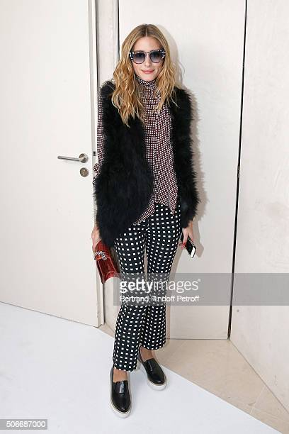 Olivia Palermo attends the Schiaparelli Haute Couture Spring Summer 2016 show as part of Paris Fashion Week on January 25 2016 in Paris France