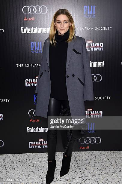 Olivia Palermo attends the screening Of Marvel's Captain America Civil War hosted by The Cinema Society with Audi FIJI at Henry R Luce Auditorium at...