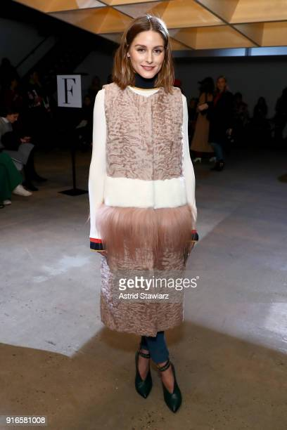 Olivia Palermo attends the SelfPortrait Fall Winter 2018 Front Row New York Fashion Week at SIR Stage37 on February 10 2018 in New York City