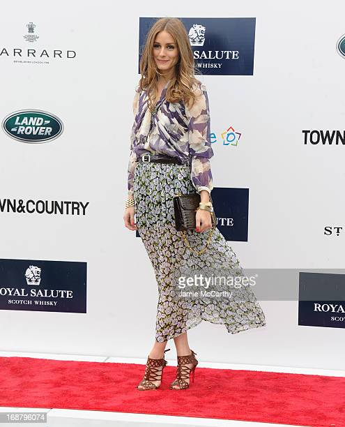 Olivia Palermo attends the Sentebale Royal Salute Polo Cup during the sixth day of HRH Prince Harry's visit to the United States at Greenwich Polo...
