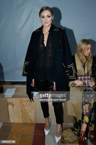 Olivia Palermo attends the Sonia Rykiel show as part of the Paris Fashion Week Womenswear Spring/Summer 2018 on September 30 2017 in Paris France