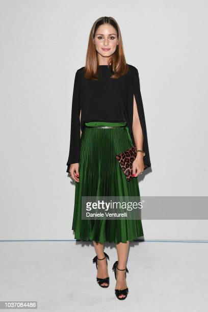 Olivia Palermo attends the Sportmax show during Milan Fashion Week Spring/Summer 2019 on September 21 2018 in Milan Italy